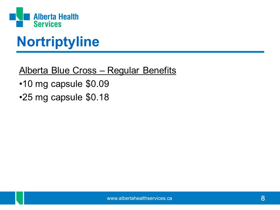Nortriptyline Alberta Blue Cross – Regular Benefits