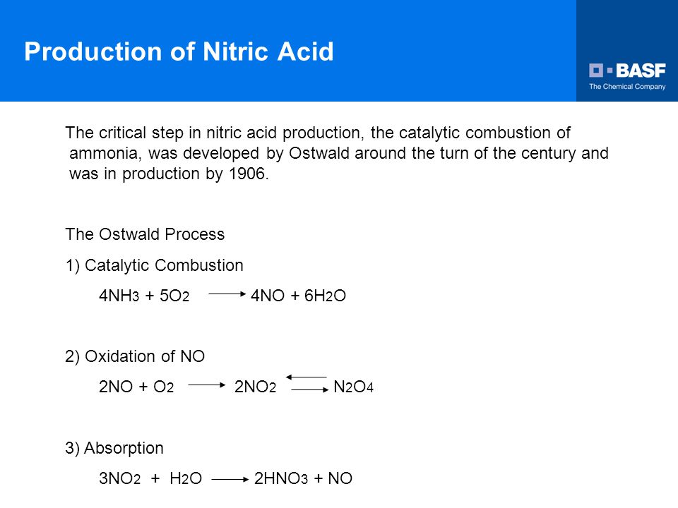 Production Of Nitric Acid Ppt Video Online Download