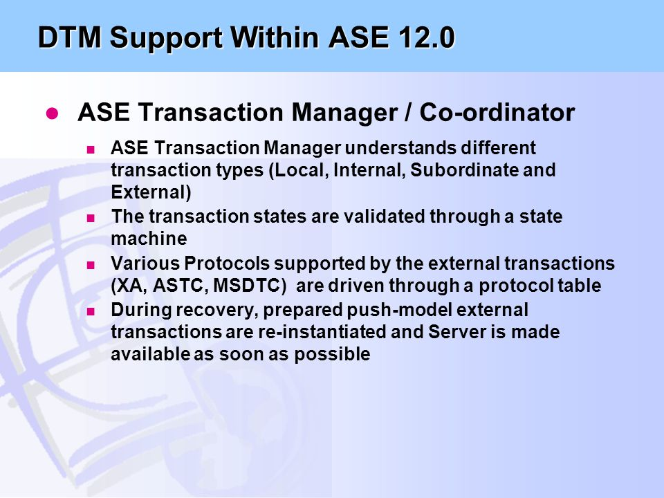 Why' and 'How' Migration Guide to ASE /12 - ppt download