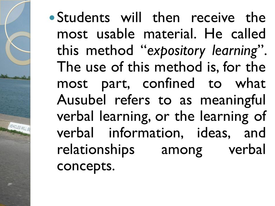 Students will then receive the most usable material