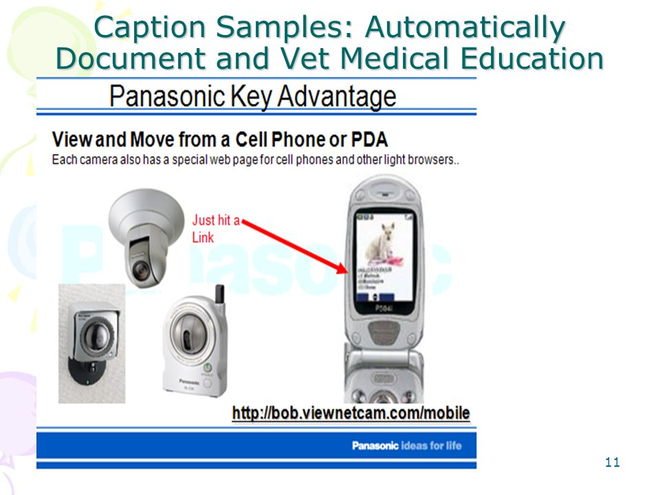 Caption Samples: Automatically Document and Vet Medical Education