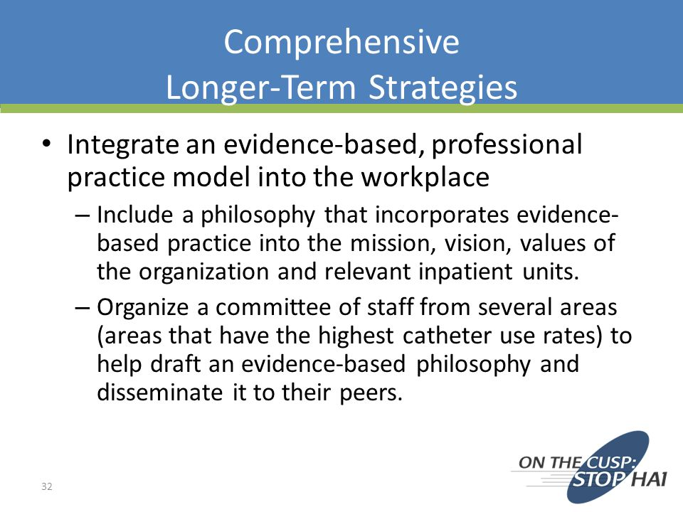 Comprehensive Longer-Term Strategies