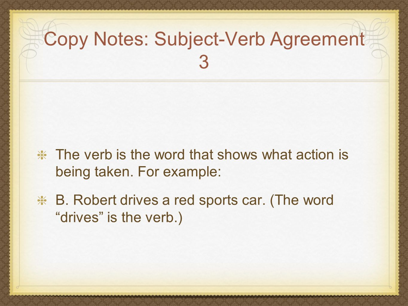 Copy Notes: Subject-Verb Agreement 3