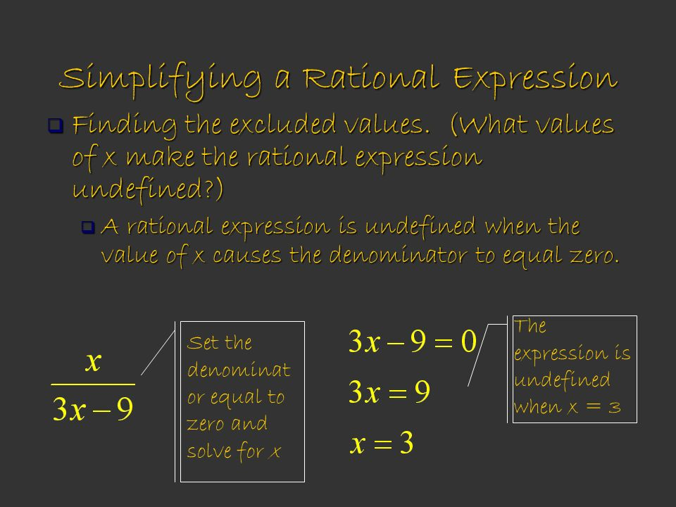 Simplifying a Rational Expression