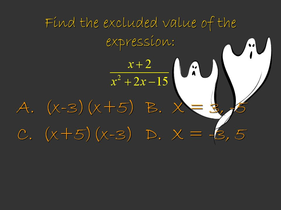 Find the excluded value of the expression: