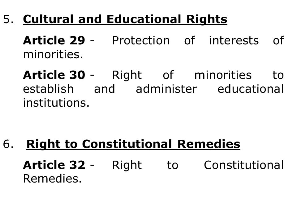 5. Cultural and Educational Rights
