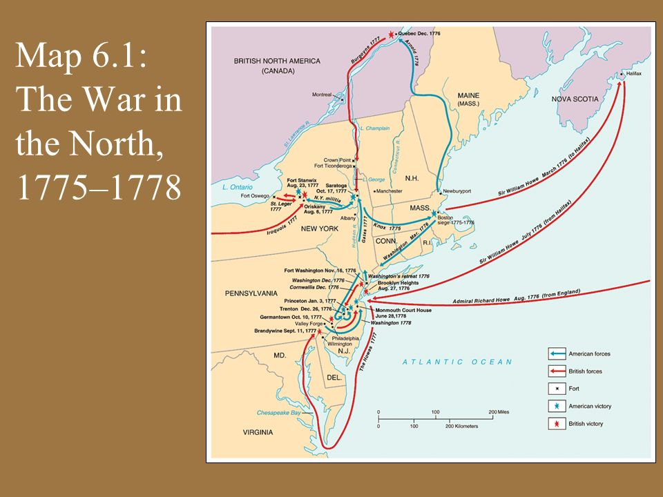Map 6.1: The War in the North, 1775–1778