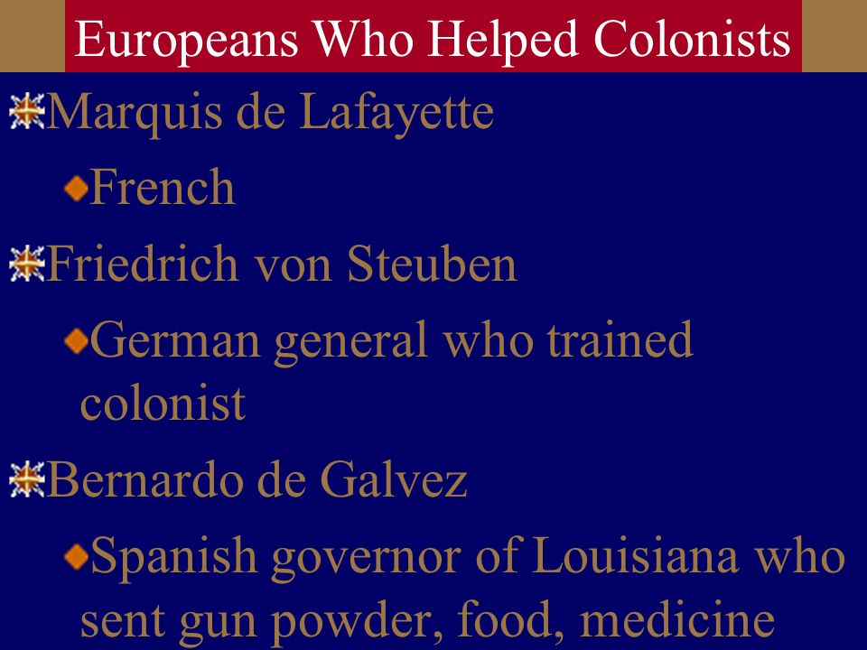 Europeans Who Helped Colonists
