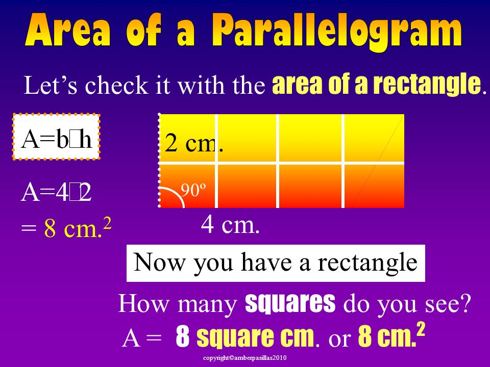 Let's check it with the area of a rectangle.