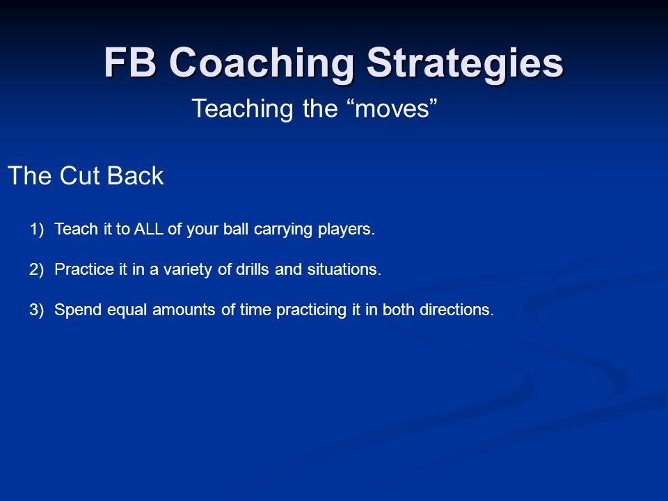 FB Coaching Strategies