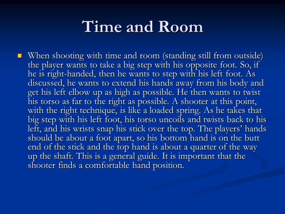 Time and Room