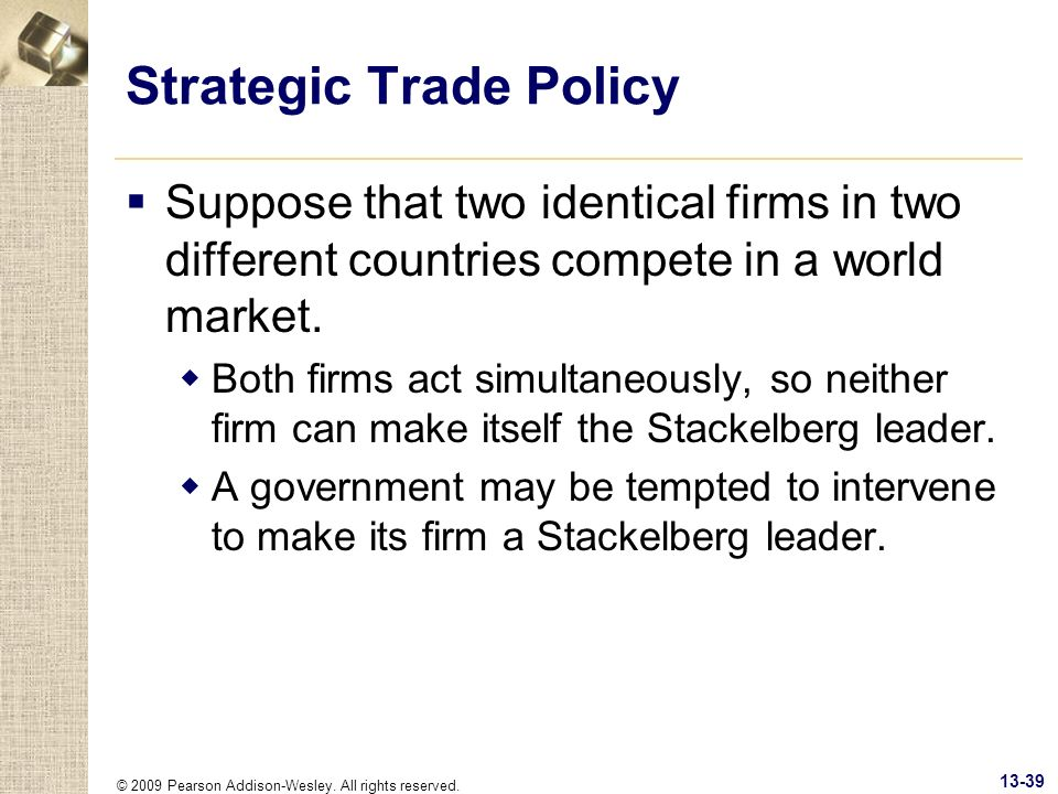 Strategic Trade Policy