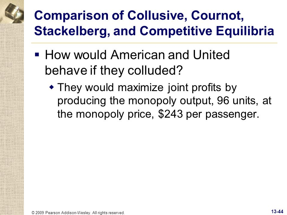 How would American and United behave if they colluded