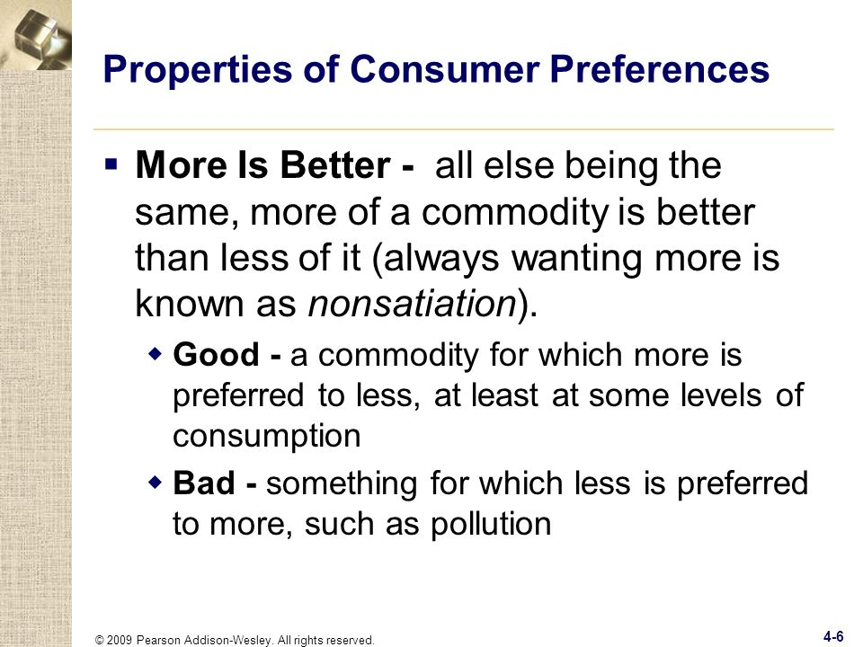 Properties of Consumer Preferences