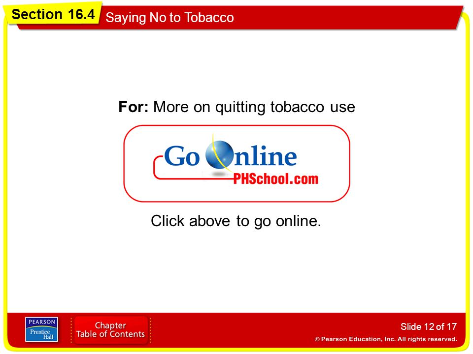 For: More on quitting tobacco use