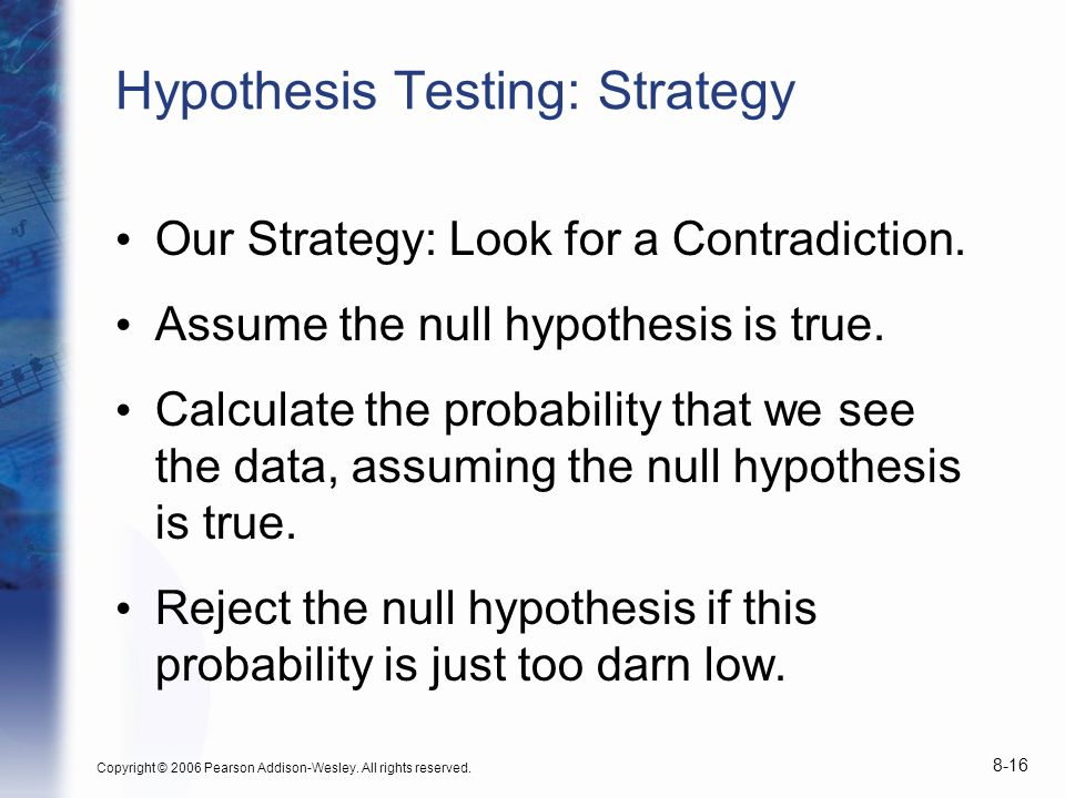 Hypothesis Testing: Strategy