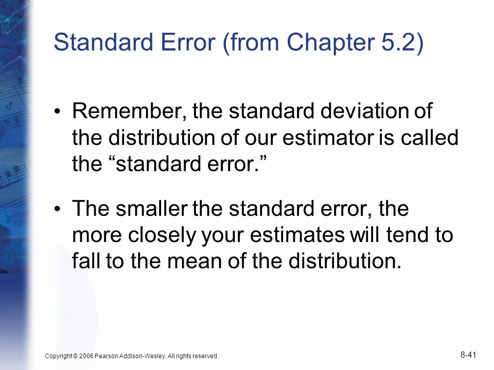Standard Error (from Chapter 5.2)