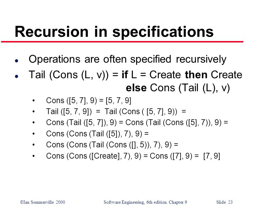 Recursion in specifications