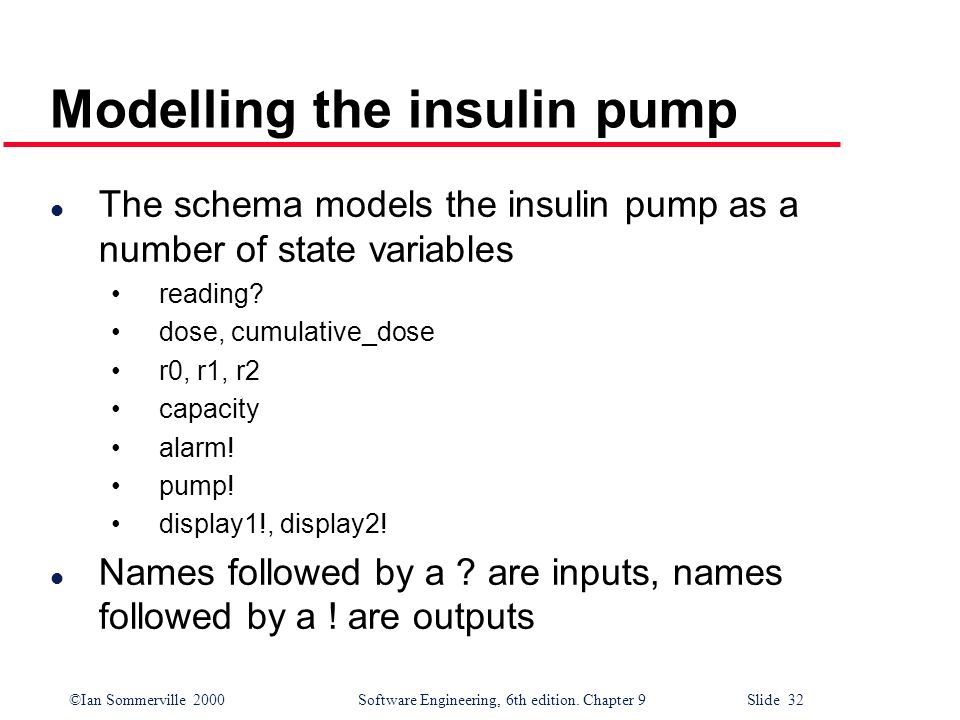 Modelling the insulin pump