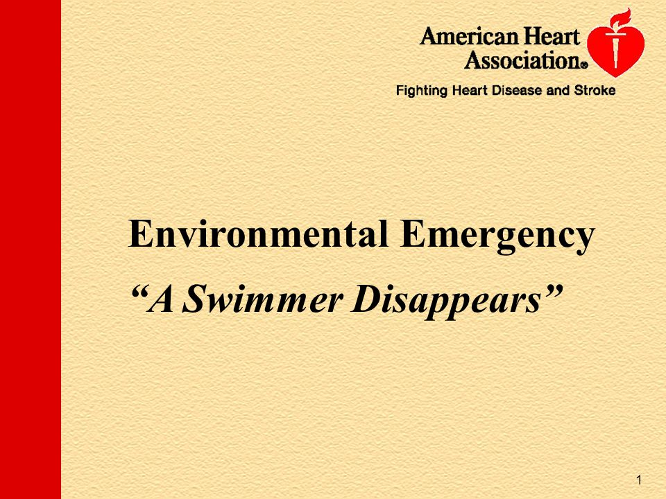 Environmental Emergency A Swimmer Disappears