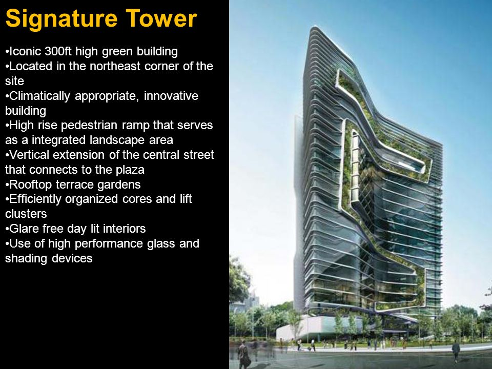 Signature Tower Iconic 300ft high green building