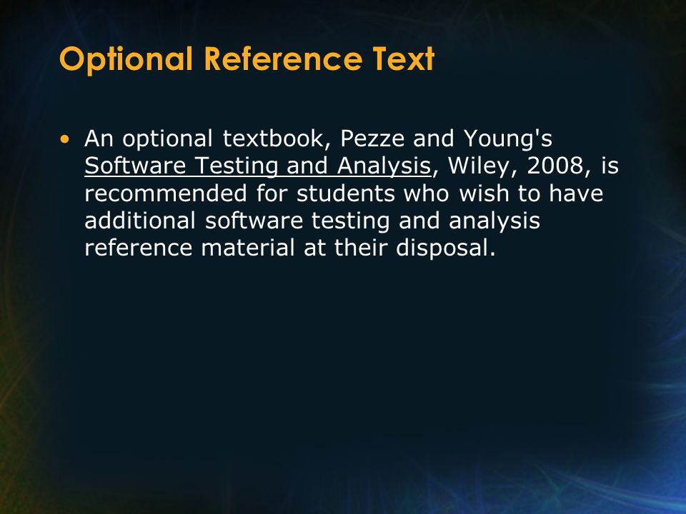 Optional Reference Text