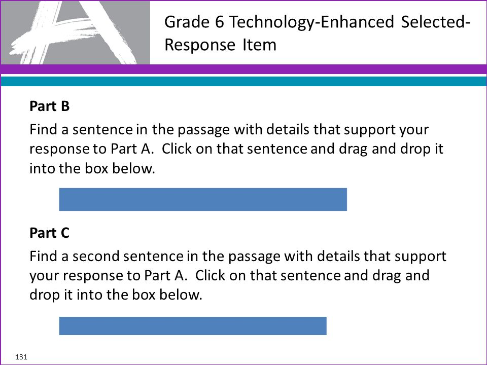 Grade 6 Technology-Enhanced Selected-Response Item