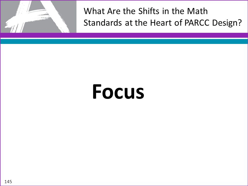 What Are the Shifts in the Math Standards at the Heart of PARCC Design