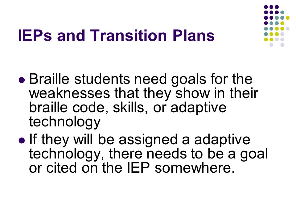 IEPs and Transition Plans