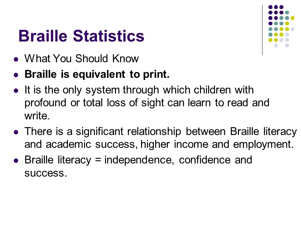 Braille Statistics What You Should Know