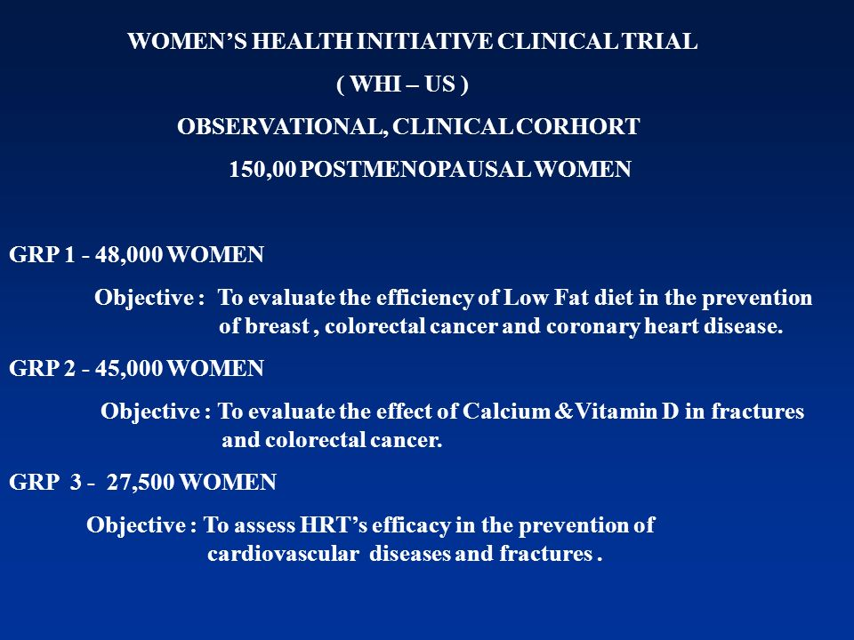 WOMEN'S HEALTH INITIATIVE CLINICAL TRIAL