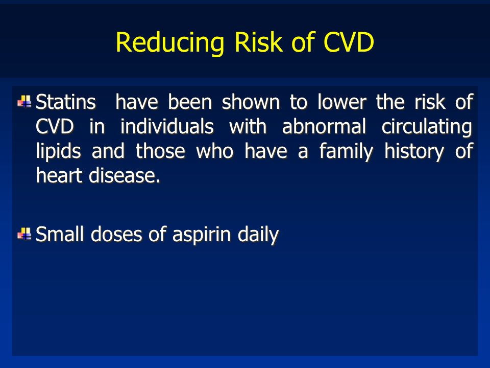 Reducing Risk of CVD