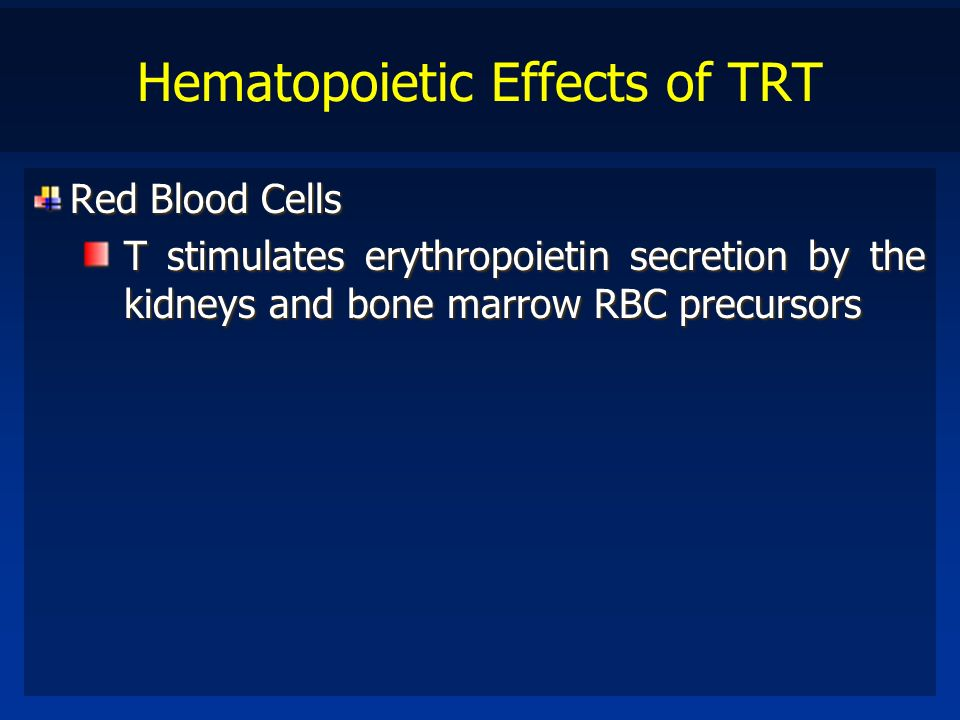 Hematopoietic Effects of TRT