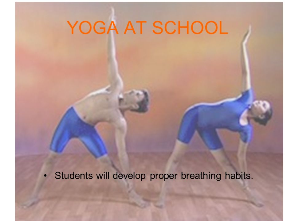 Students will develop proper breathing habits.