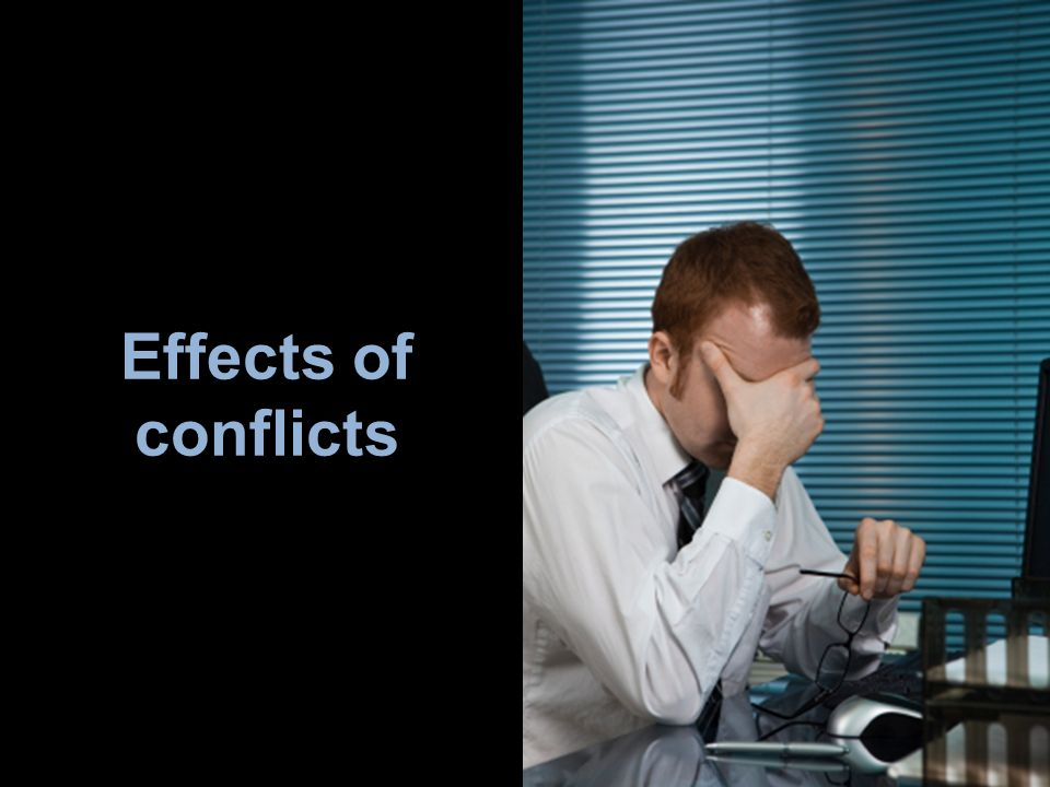 Effects of conflicts