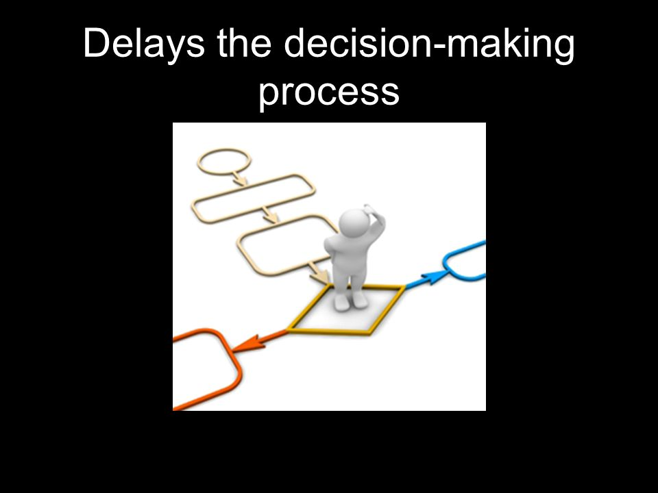 Delays the decision-making process