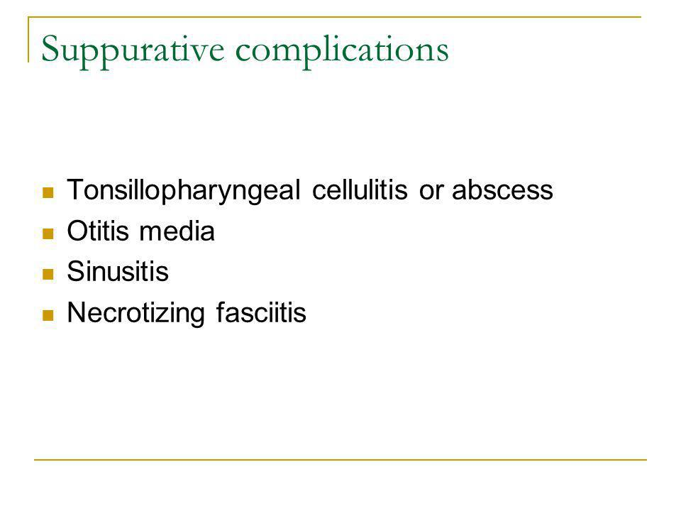 Suppurative complications