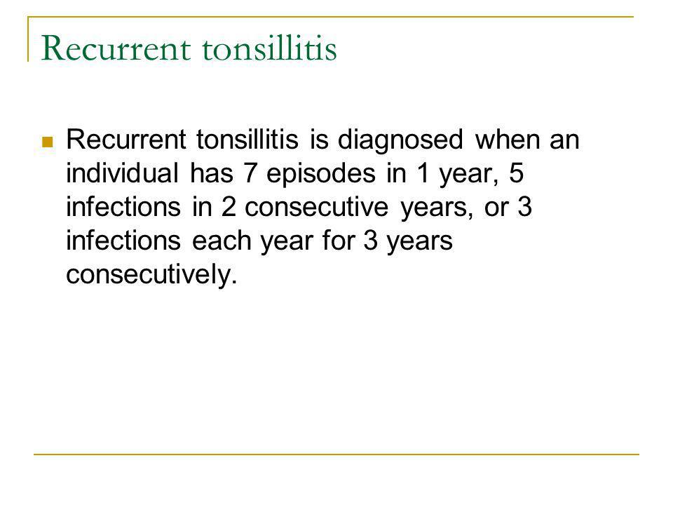 Recurrent tonsillitis