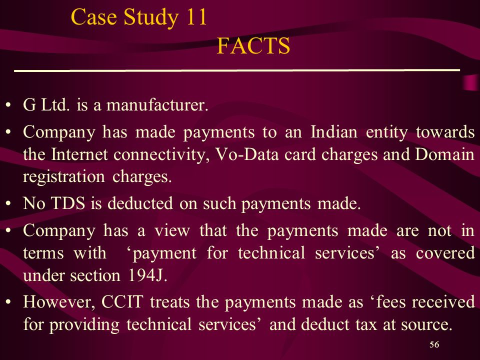 Case Study 11 FACTS G Ltd. is a manufacturer.