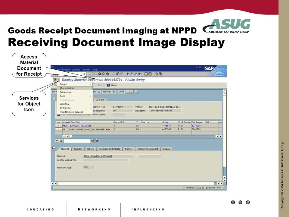 Goods Receipt Document Imaging at Nebraska Public Power