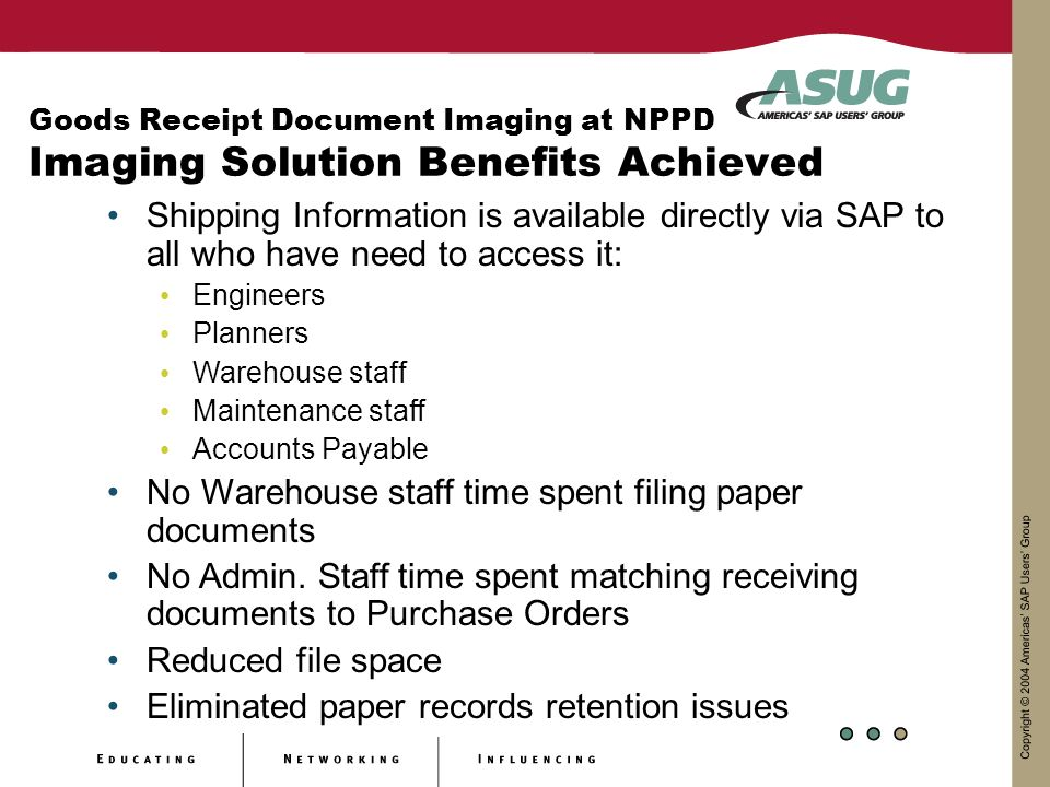 No Warehouse staff time spent filing paper documents