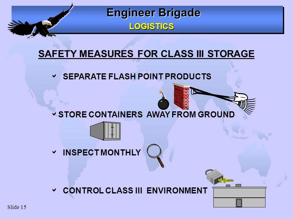 SAFETY MEASURES FOR CLASS III STORAGE