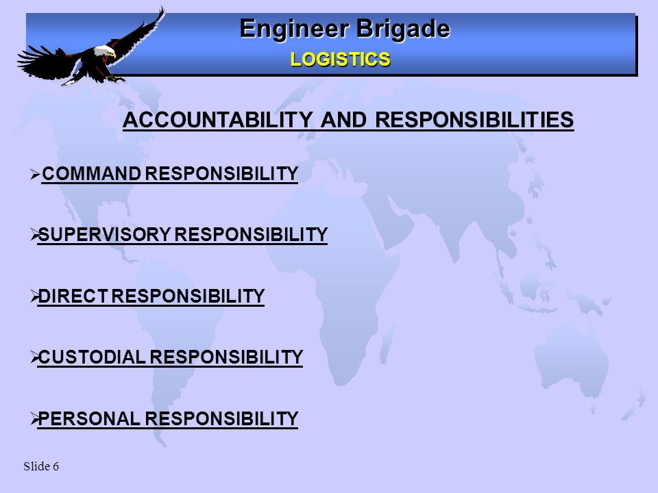 ACCOUNTABILITY AND RESPONSIBILITIES ACCOUNTABILITY AND RESPONSIBILITY