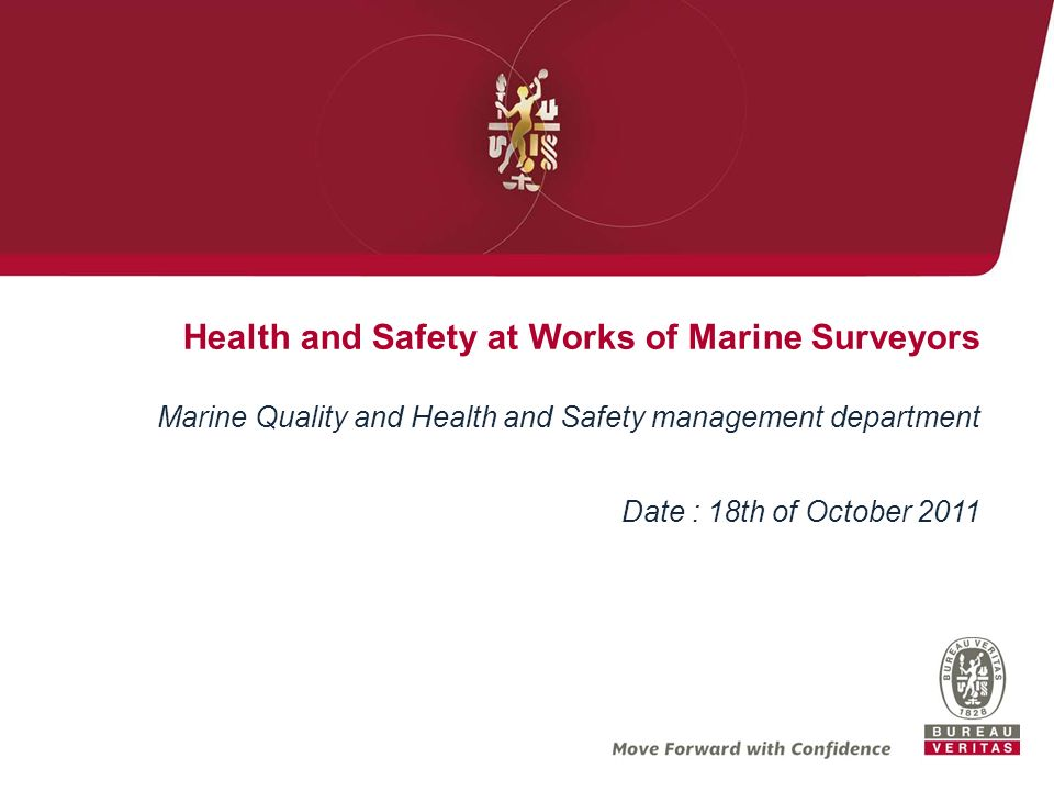 Health and Safety at Works of Marine Surveyors