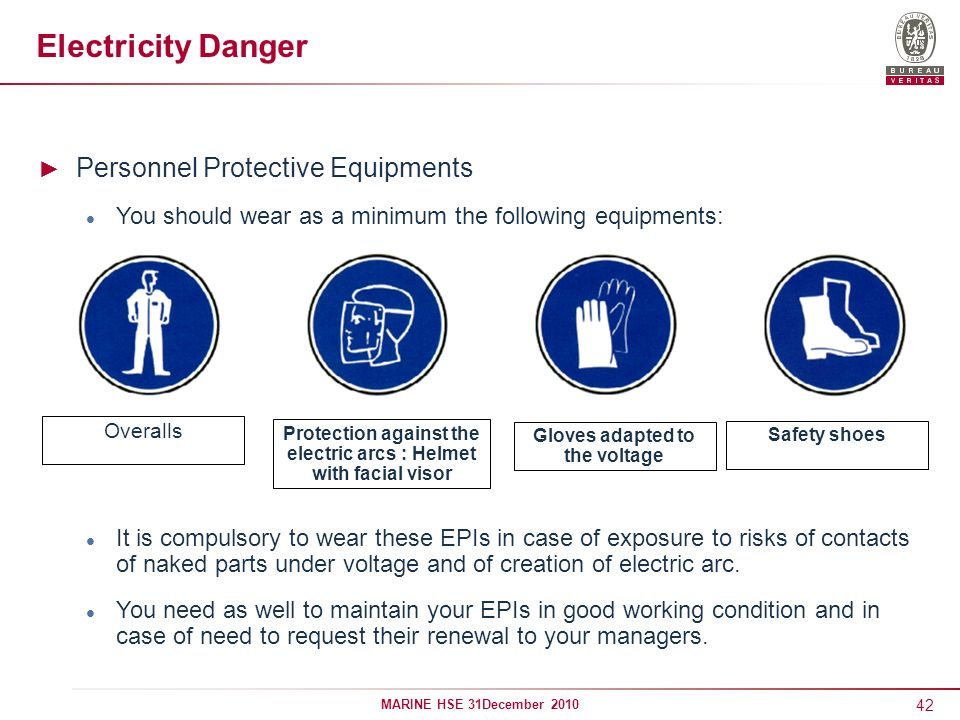 Electricity Danger Personnel Protective Equipments