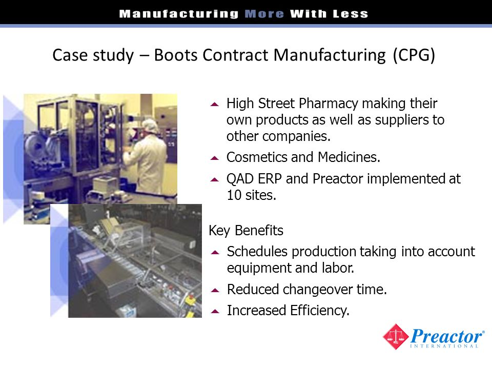 Case study – Boots Contract Manufacturing (CPG)