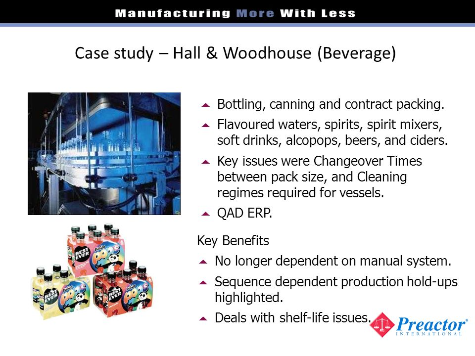 Case study – Hall & Woodhouse (Beverage)