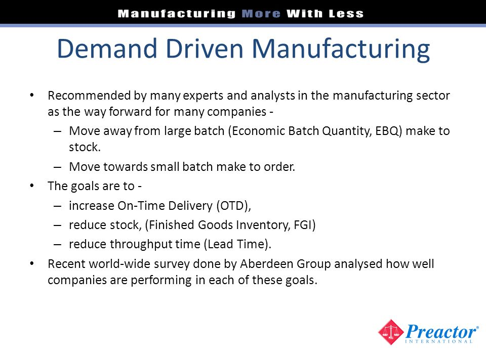 Demand Driven Manufacturing