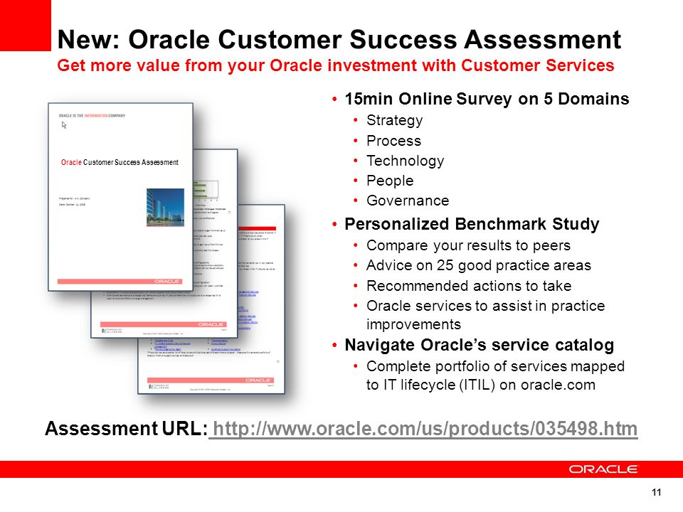 Assessment URL: http://www.oracle.com/us/products/035498.htm