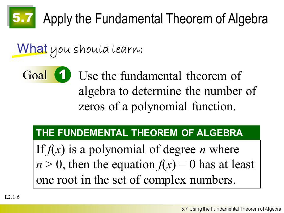 Apply the Fundamental Theorem of Algebra